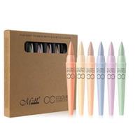 6 ألوان / مجموعة M.n menow cc المخفي القلم البقع الداكنة إزالة سطع اللون مصحح ترطيب طويل ارتداء ماكياج الوجه للبشرة الجافة