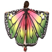 Women Butterfly Wings Shawl Scarves Ladies Nymph Pixie Ponch...