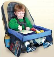 5 colores para bebés y niños pequeños Cinturón de seguridad del coche Bandeja de viaje Mesa plegable a prueba de agua Bebé Cubierta de asiento de coche Arnés Cochecito Cochecito para niños Snack