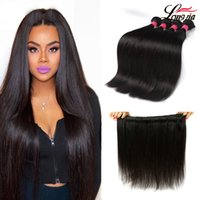 Malaysian Straight Human Hair Extensions Brazilian Straight ...