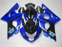 Ücretsiz Suzuki GSXR600 GSXR750 04 05 K4 Satış Sonrası GSX-R600 / 750 2004 2005 Mavi Siyah Perileri Set ZZ63 Set
