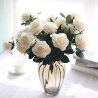 fake flowers Artificial Flower 45cm Roses Bouquet 10 Heads R...