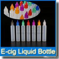 PE бутылки 30 мл E жидкость бутылка с красочными крышками и длинными тонкими наконечниками ручка форма бутылки