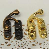 12X 골동품 장식 보석 선물 나무 상자 케이스 벌브 래치 훅 잠금 장치와 나사