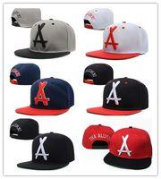 Hot Brand New Style Regulowany Tha Alumni Snapback Caps White A Letter Hip Hop Hats Kapelusze Baseball Snap Back Caps Dla Mężczyzn Kobiety
