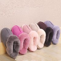 Brand Winter Fur Slipper Men Women Teenager warm lover Sanda...