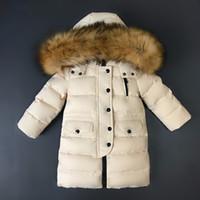 2-14 Jahre Hohe Qualität lange Jugend Kinder Winter Ente Daunenjacke für Mädchen Kleidung Jungen Mantel Parka Kinder Kleidung-30 Grad