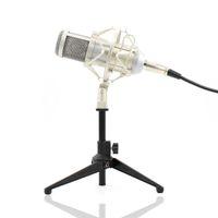 BM-800 Kondenser Mikrofon Profesyonel 3.5mm Mic Video Kayıt Stüdyosu Için Metal Tripod Ile Compute