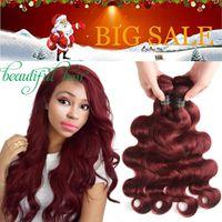 Бургундские перуанские индийские малайзийские пучки человеческих волос 9А бразильская девственная объемная волна плетение волос человеческих волос ткать чистый цвет # 2 # 30 # 27 # 99J