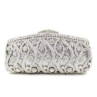 Dgrain Multi Color Kristall-Diamant-Frauen-Abend-Clutch Minaudiere Brautbrautsteinhandtasche