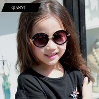 Moda redonda lindo niños gafas de sol marca niños gafas de sol bebé vintage niños gafas regalo gafas de sol ga