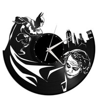 Batman Movie Clown Vinyl Orologio da parete creativo Modern Fashion Home Decor Wall Art Clock (Dimensioni: 12 pollici, Colore: Nero)