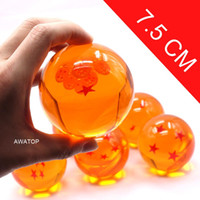 Couleur Boxed 7.5 cm Dragon Ball Star Crystal Ball Pvc Figure Dragonball Z Action Figure Jouet 1 ~ 7 Étoile Sélectionnable