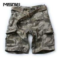 MISNIKI 2018 Summer Men Army  Tactical Shorts Casual Multi-Pocket Male Cargo Shorts Homme S-XXL AXP92