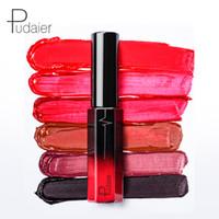 العلامة التجارية الجديدة Pudaier غير-- عصا كأس ملمع الشفاه السائل شبه ماتي 36 الألوان ماتي الصباغ للماء أحمر الشفاه السائل ماتي أحمر الشفاه