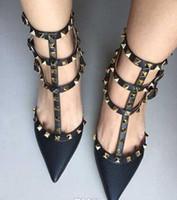 женщины рок высокие каблуки платье обувь партии мода заклепки девушки сексуальная острым носом шпильки обувь пряжки платформы насосы свадебные туфли