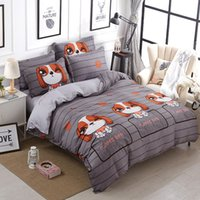7 Photos Wholesale Dog Print Bed Sheets   Dog Cartoon Printed Lovely Home  Cozy Textile Bedding Sets Duvet