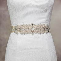 Cinturón de boda de cristal Rhinestone S Piedras checas novia Cinturón de novia Fashes Accesorios de boda Vestido de noche Cinturón