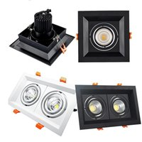 Super Bright 10W Double2x10W White Black Dimmable Led downli...