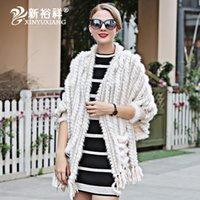 Spring real Mink fur Knitted thin shawl women tassel Scarves...