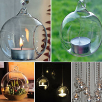 80MM Romantic Hanging Tealight Holder Glass Globes Terrarium...