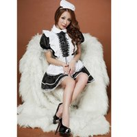 Hot Selling 2017 Women Sexy Maid Costume Halloween Christmas...