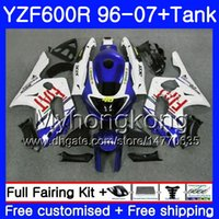 Corpo + serbatoio per YAMAHA YZF600R Thundercat 02 03 04 05 06 07 229HM.41 vendita calda bianca YZF 600R YZF-600R 2002 2003 2004 2005 2006 2007 Carenatura