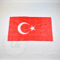 Turquía / bandera nacional turca libre 3x5 envío FT / 90 * 150cm Colgando de la bandera nacional de Turquía / turco decoración del hogar bandera de la bandera