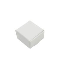 50 pcs / lote 4 * 4 * 2.5cm pequena caixa de embalagem de papel kraft branco para jóias DIY sabão sabão Bolos de padaria bolinhos Caixas de armazenamento de doces