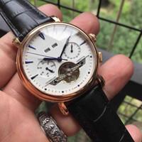nuovo cinturino in pelle da polso da uomo multifunzionale di lusso, orologi da uomo con movimento in acciaio inossidabile 2813 Orologi da uomo meccanici automatici