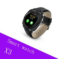 nuevo X3 Smart Watches Podómetro Fitness Clock Camera Tarjeta SIM Reproductor de Mp3 para apple Android Watchphone