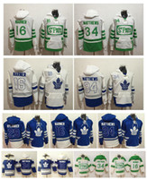 2017 Centennial Classic 100 ° Toronto Maple Leafs Pullover 34 Auston Matthews 16 Mitch Marner 29 William Nylande Hockey Felpa con cappuccio