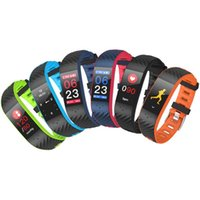 P4 Waterproof Color Touch Screen Smart Wristband Sports Brac...