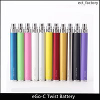 Ego C twist batterie à tension variable réglable e-cigarette batterie 650mah / 900mah / 1100mah couleur dhl livraison gratuite