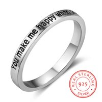 925 Sterling silver ring Valentine' s Day Gift Personali...