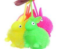 ED Işık Sıkmak Anti Stres Oyuncaklar Otizm Floş Tavşan Flaş Topu Esneklik Komik Oyuncaklar Çocuklar Için Aydınlık Oyuncaklar Renk Rastgele
