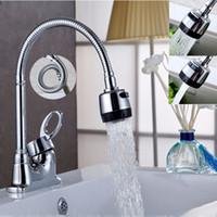 Güverte Üstü Mutfak Banyo Havzası Evye Su Musluk Musluklar Esnek Bacalı Krom Seramik Vana Banyo Havzası Musluklar Mikser Dokunun