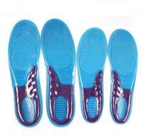 Homens Mulheres Silicone Gel Orthotic Arch Apoio Massagem Esporte Sapato Palmilhas Run Pad À Prova de Choque S / L Tamanho Anti-Slip Macio Almofada de Sapato Do Esporte