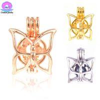 Moda grasso farfalla amore desiderio akoya ostriche perle gabbie argento oro rosa nuovi pendenti festa di compleanno bambini donne migliori regali