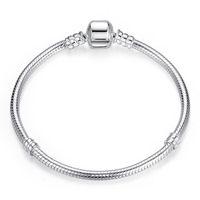 AIFEILI Dropship de plata plateado auténtica cadena de la serpiente de bricolaje pulsera del encanto del brazalete DIY para las mujeres regalo joyería de la pulsera