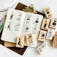 8pcs lot X DIY Cartoon Wood Stamps for Kids Decor Diary Scra...