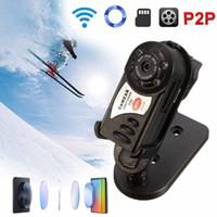 Q7 Kablosuz WiFi IP Kamera Kızılötesi Gerçek zamanlı Mini DVR Gece Görüş Kamera Video Kaydedici Destek TF Kart 32 GB