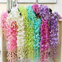 "29. 5"" 43. 3"" Wisteria Fake Silk Flowers 12pcs lot A..."