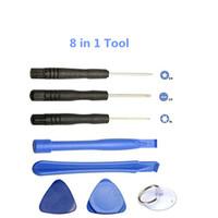 Reparatur-Hebel-Kit 8 in 1 Öffnungs-Werkzeug-Set mit 5 Punkt-Sterne Pentalob Torx-Schraubendreher Ersatz-Werkzeug für iPhone