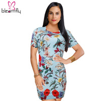 2018 New Floral Print Women Dress 2018 Vintage Clothing Sexy...