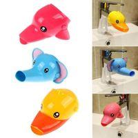 Envío gratis Feliz Fun Animal Faucet Extender Baby Tubs Niños Mano Lavado Baño Fregadero Fashion Moda y conveniente
