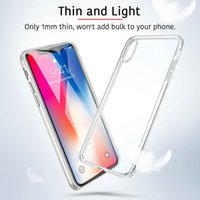 For Iphone X Samsung S7 S8 S9 S9 plus 0. 3MM Crystal Gel Case...