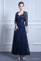 Elegant Navy Mother Of The Groom Dress With Jacket Plus Size...