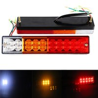 1 Pair 20LED 12V 24V Truck Trailer Tail Lights High Bright R...