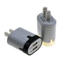 금속 듀얼 USB 벽 충전기 미국은 LG 태블릿 100PCS주의 삼성 은하에 대한 2A AC 전원 어댑터 벽 충전기 플러그 2 포트에 연결